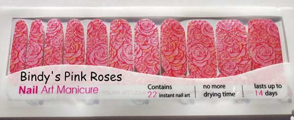 Bindy's Pink Roses Nail Wraps