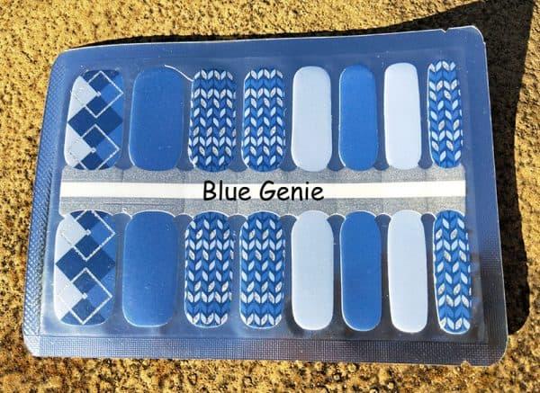 Blue Genie Nail Wraps