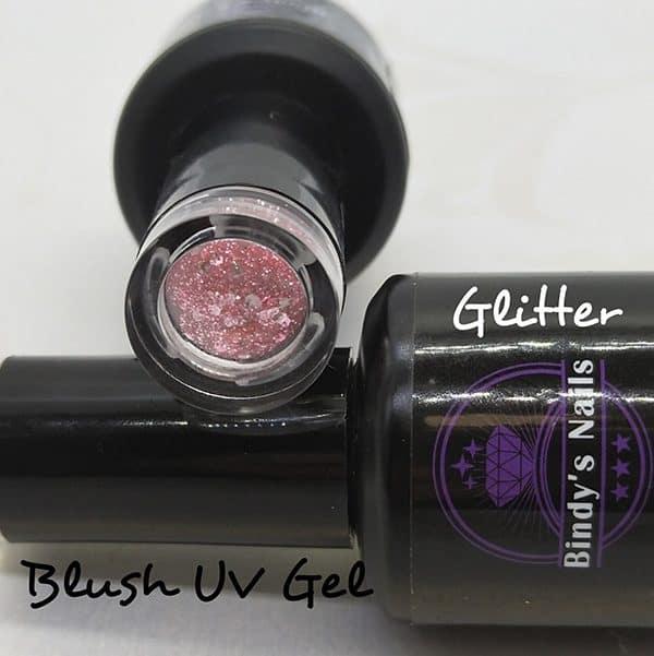 Blush UV Glitter Gel