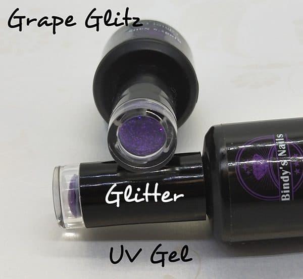 Grape UV Glitter Gel