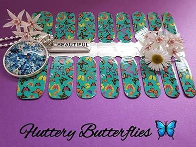 Bindys-Nail-wraps-Fluttery Butterflies