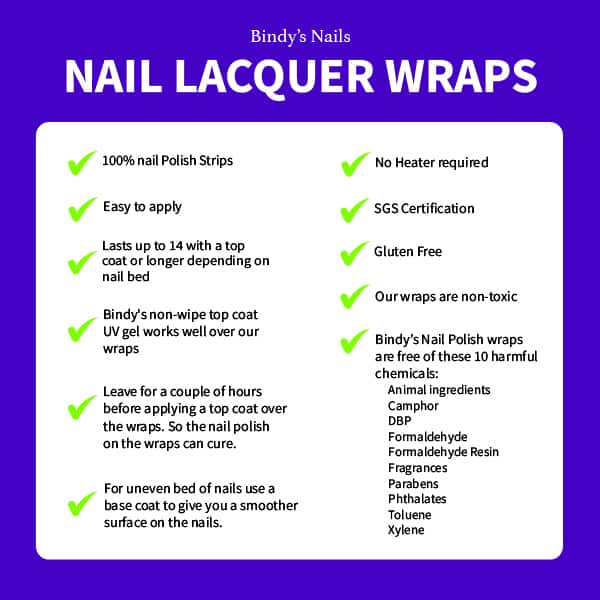 Nail Wrap specifications