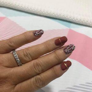 Bindy's Nail Art Flower Abstract Nail Polish Wrap