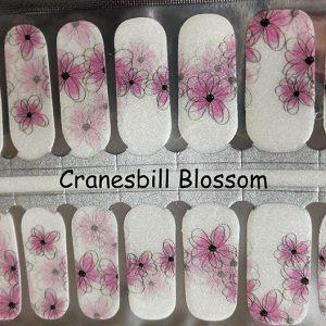 Cranesbill Blossom Nail Wraps