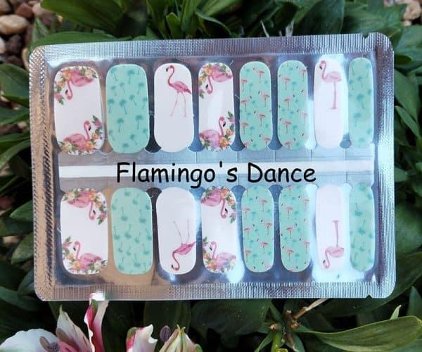 Flamingo's Dance Nail Wraps