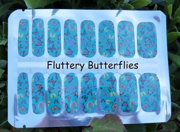 Fluttery Butterflies Nail Wraps
