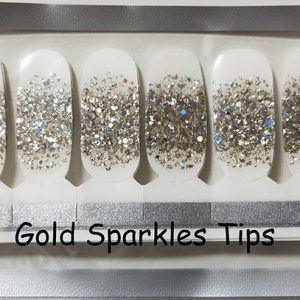 Gold Sparkles Tips Nail Wraps