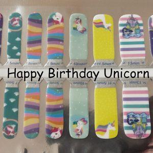 Happy Unicorn Birthday Nail Wraps