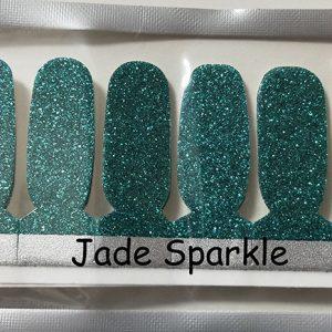 Jade Sparkle Nail Wraps