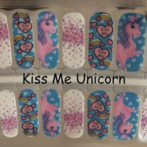 Kiss me Unicorn Nail Wraps