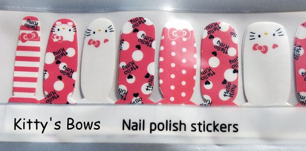 Kitty's Bows Nail Wraps