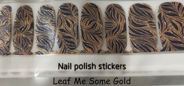 Leaf Me Some Gold Nail Wraps