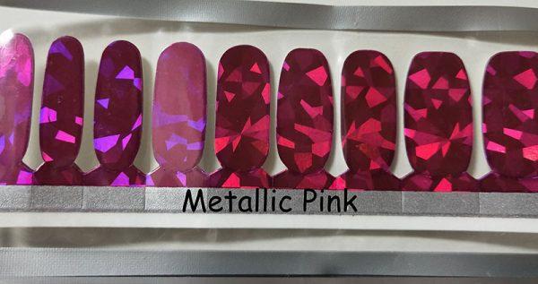 Metallic Pink Nail Wraps