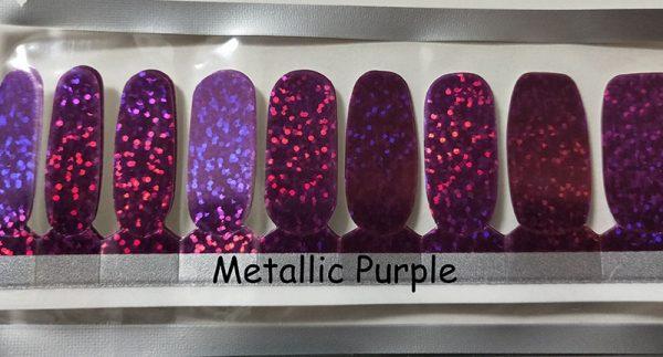 Metallic Purple Nail Wraps