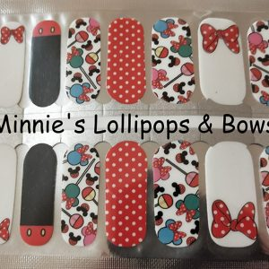Minnie's Lollipops & Bows Nail Wraps