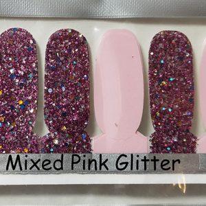 Mixed Pink Glitter Nail Wraps