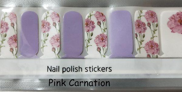 Pink Carnation Nail Wraps