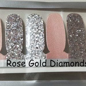 Rose Gold Diamond Nail Wraps