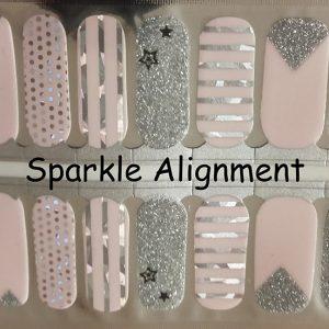 Sparkle Alignment Nail Wraps