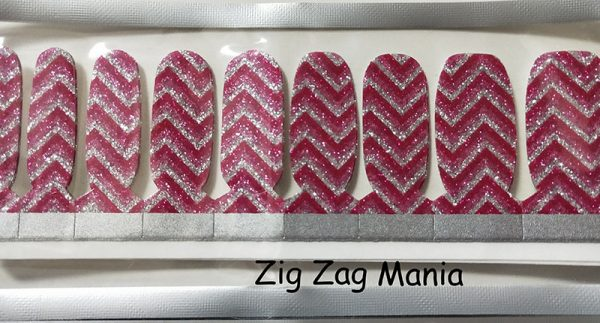 Zig Zag Mania Nail Wraps