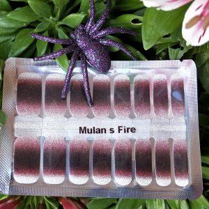 Mulan's fire nail wraps