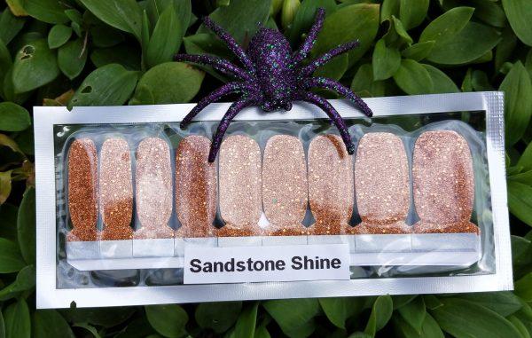Sandstone shine nail wraps