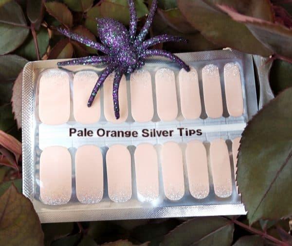Pale orange nail wraps