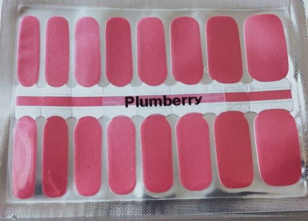 Plumberry nail wraps