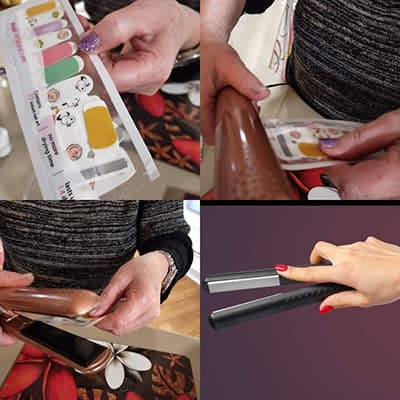 Leftover nail wrap tips