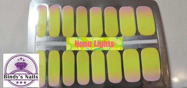 Neon lights nail wraps