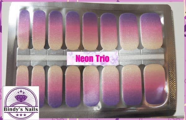 Neon trio nail wraps