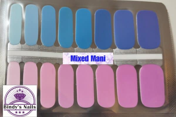 Mixed mani nail wraps