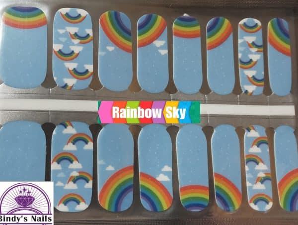 Rainbow sky nail wraps