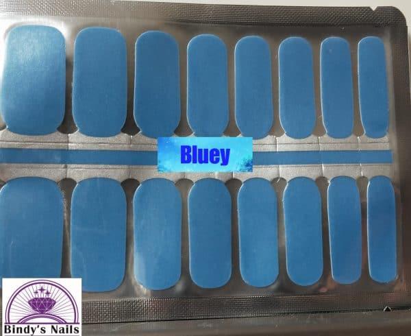 Bluey nail wraps