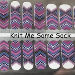 Knit me some socks nail wraps