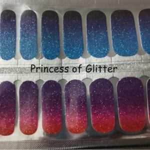 Princess of glitter nail wraps