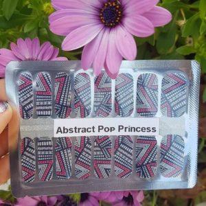 Abstract pop princess nail wraps