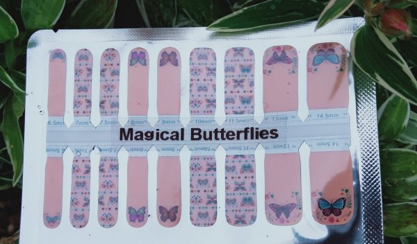 Magical butterflies nail wraps