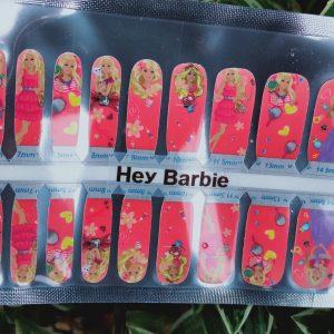 Hey barbie nail wraps