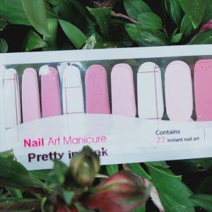 Pretty in pink nail wraps
