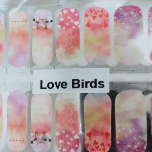 Love Birds nail wraps
