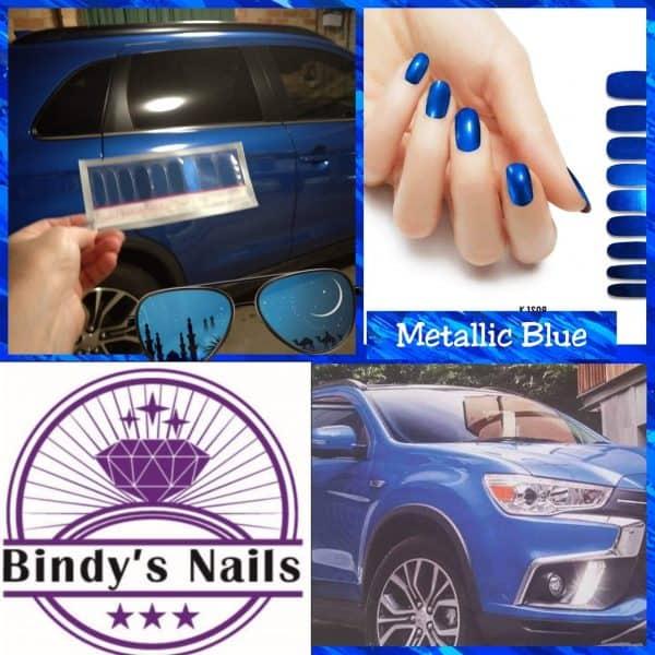 Bindy's-Nails-Polish-Wrap-Metallic-Blue -Poster