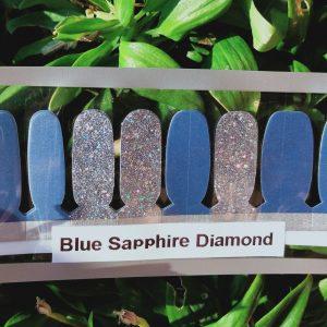 Bindys-Nails-Polish-Wraps -Blue Sapphire Diamond