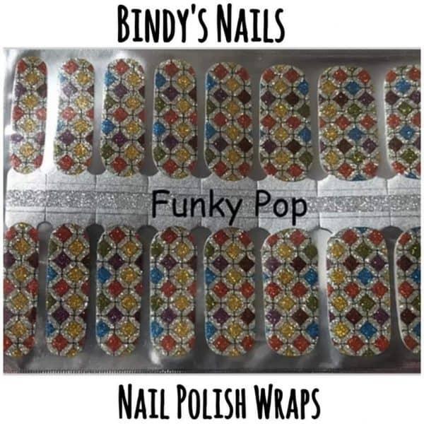 Bindy's Nails Polish Wraps Funky Pop