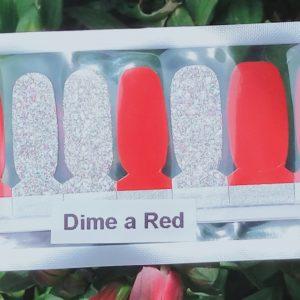 Bindy's Nails Dime A Red Nail Polish Wraps