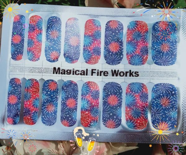 Bindy's Nails Magical Fire Works Nail Polish Wraps