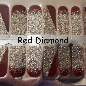 Bindy's Nail Red Diamond Nail Polish Wrap