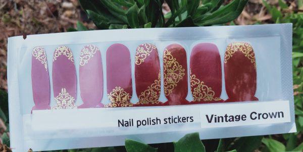 Bindy's Vintage Crown Nail Polish Wraps