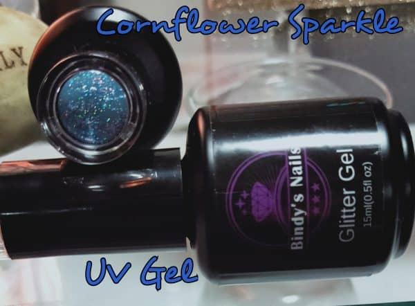 Bindy's Nails Cornflower Sparkle UV GEL
