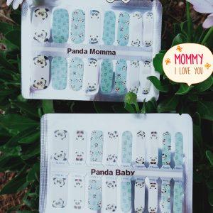 Bindy's Nails Mooma & Baby Panda Nail Polish Wraps